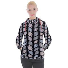 Seamless Pattern With Interweaving Braids Women s Hooded Pullover