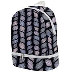 Seamless Pattern With Interweaving Braids Zip Bottom Backpack