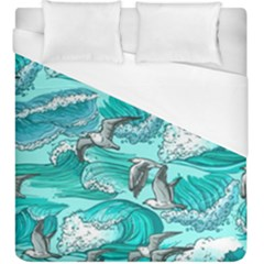 Sea Waves Seamless Pattern Duvet Cover (king Size)