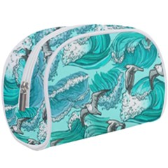 Sea Waves Seamless Pattern Makeup Case (large)