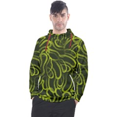 Green Abstract Stippled Repetitive Fashion Seamless Pattern Men s Pullover Hoodie