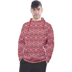 Pink Art With Abstract Seamless Flaming Pattern Men s Pullover Hoodie