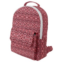 Pink Art With Abstract Seamless Flaming Pattern Flap Pocket Backpack (small) by BangZart