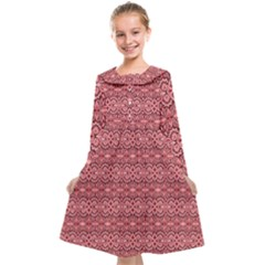 Pink Art With Abstract Seamless Flaming Pattern Kids  Midi Sailor Dress by BangZart