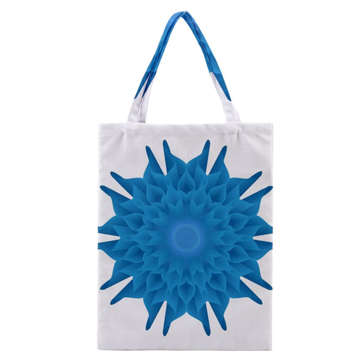 Blue Blend Flower Classic Tote Bag