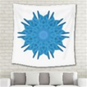 Blue Blend Flower Square Tapestry (Large) View2