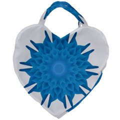 Blue Blend Flower Giant Heart Shaped Tote