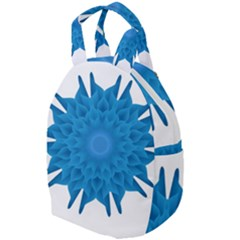 Blue Blend Flower Travel Backpacks