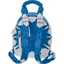 Blue Blend Flower Travel Backpacks View2
