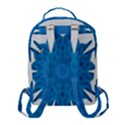 Blue Blend Flower Flap Pocket Backpack (Small) View3