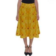 Blossoms  So Free In Freedom Perfect Length Midi Skirt