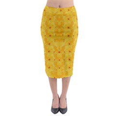 Blossoms  So Free In Freedom Midi Pencil Skirt