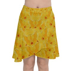 Blossoms  So Free In Freedom Chiffon Wrap Front Skirt