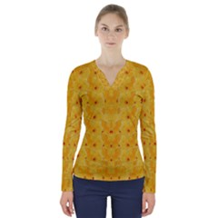 Blossoms  So Free In Freedom V-Neck Long Sleeve Top