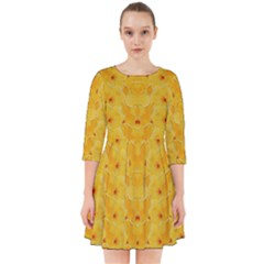 Blossoms  So Free In Freedom Smock Dress
