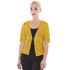 Blossoms  So Free In Freedom Cropped Button Cardigan