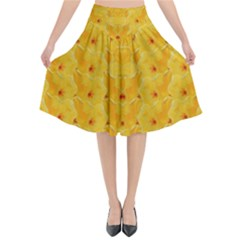 Blossoms  So Free In Freedom Flared Midi Skirt