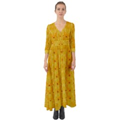 Blossoms  So Free In Freedom Button Up Boho Maxi Dress