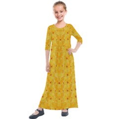 Blossoms  So Free In Freedom Kids  Quarter Sleeve Maxi Dress