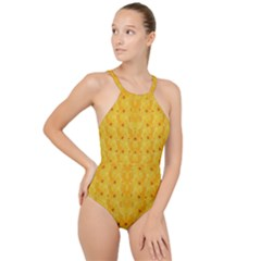 Blossoms  So Free In Freedom High Neck One Piece Swimsuit