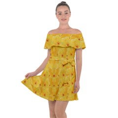 Blossoms  So Free In Freedom Off Shoulder Velour Dress