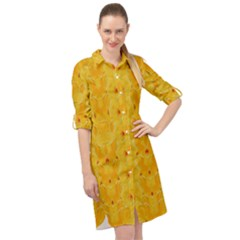 Blossoms  So Free In Freedom Long Sleeve Mini Shirt Dress