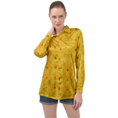 Blossoms  So Free In Freedom Long Sleeve Satin Shirt