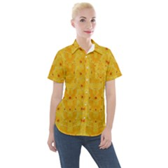 Blossoms  So Free In Freedom Women s Short Sleeve Pocket Shirt