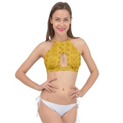Blossoms  So Free In Freedom Cross Front Halter Bikini Top