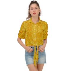 Blossoms  So Free In Freedom Tie Front Shirt