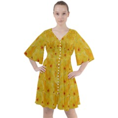 Blossoms  So Free In Freedom Boho Button Up Dress