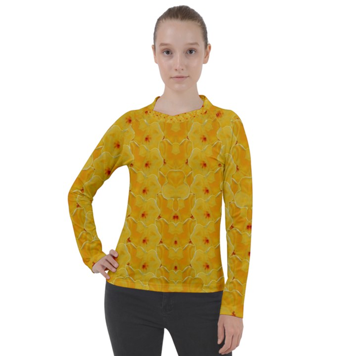 Blossoms  So Free In Freedom Women s Pique Long Sleeve Tee