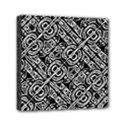 Linear Black And White Ethnic Print Mini Canvas 6  x 6  (Stretched) View1