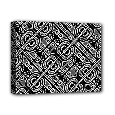 Linear Black And White Ethnic Print Deluxe Canvas 14  X 11  (stretched) by dflcprintsclothing