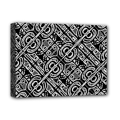 Linear Black And White Ethnic Print Deluxe Canvas 16  X 12  (stretched)  by dflcprintsclothing