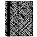 Linear Black And White Ethnic Print Samsung Galaxy Tab 10.1  P7500 Flip Case View2
