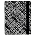 Linear Black And White Ethnic Print Samsung Galaxy Tab 10.1  P7500 Flip Case View3