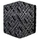 Linear Black And White Ethnic Print Samsung Galaxy Tab 10.1  P7500 Flip Case View4