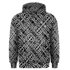 Linear Black And White Ethnic Print Men s Core Hoodie by dflcprintsclothing