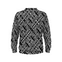 Linear Black And White Ethnic Print Kids  Sweatshirt View2