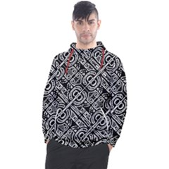 Linear Black And White Ethnic Print Men s Pullover Hoodie by dflcprintsclothing