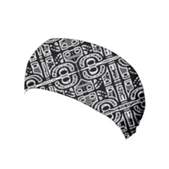 Linear Black And White Ethnic Print Yoga Headband