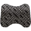 Linear Black And White Ethnic Print Head Support Cushion View1