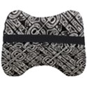 Linear Black And White Ethnic Print Head Support Cushion View2