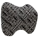 Linear Black And White Ethnic Print Head Support Cushion View3