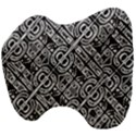 Linear Black And White Ethnic Print Head Support Cushion View4