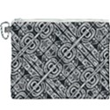 Linear Black And White Ethnic Print Canvas Cosmetic Bag (XXXL) View1