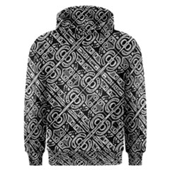 Linear Black And White Ethnic Print Men s Overhead Hoodie by dflcprintsclothing