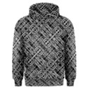 Linear Black And White Ethnic Print Men s Overhead Hoodie View1