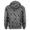 Linear Black And White Ethnic Print Men s Overhead Hoodie View2